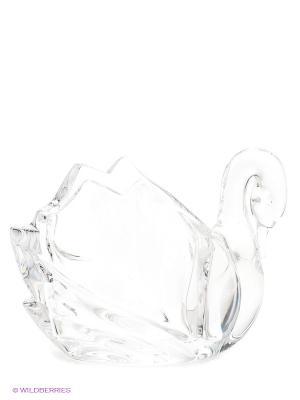 Фигурка Лебедь, 11,4 см Crystal Bohemia. Цвет: прозрачный