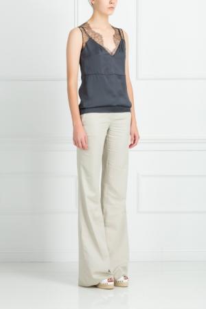 Хлопковые брюки Kaufmanfranco. Цвет: серый