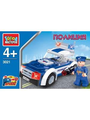 Конструктор Город мастеров Полиция: патрульный, с фигуркой.. Цвет: белый, синий
