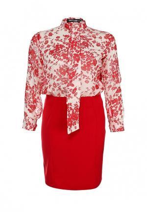 Платье Love & Light XXL. Цвет: красный