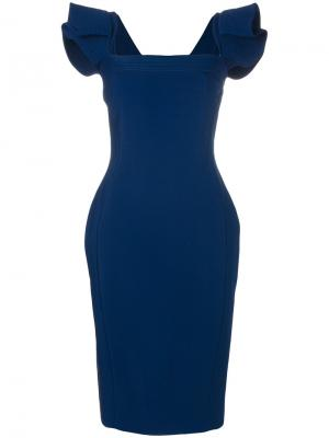 Платье с квадратным вырезом Antonio Berardi. Цвет: синий
