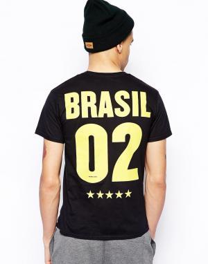 Футболка  Brazil 02 Born Idol. Цвет: черный