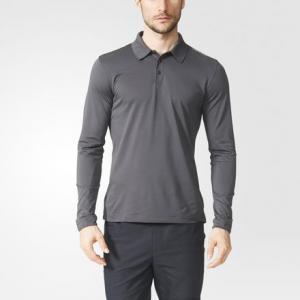 Рубашка-поло с длинным рукавом Piqué  Porsche adidas. Цвет: черный