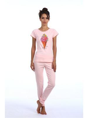 Брюки L'Amour. Цвет: розовый