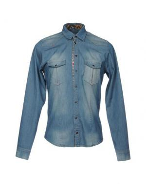 Джинсовая рубашка X-CAPE. Цвет: синий