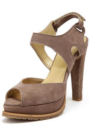 Босоножки на каблуках Rosa rot. Цвет: серый