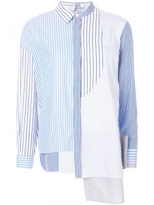 Асимметричная рубашка Enföld. Цвет: синий