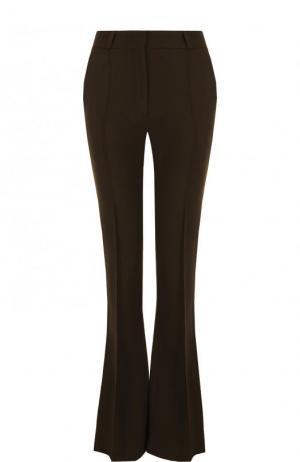 Однотонные расклешенные брюки со стрелками Victoria Beckham. Цвет: хаки