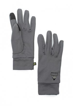 Перчатки Burton. Цвет: серый