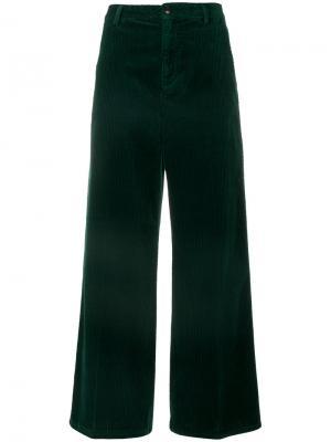 Широкие брюки Closed. Цвет: зелёный