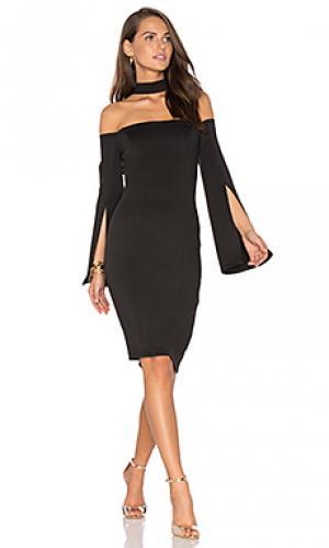 Мини-платье с длинным рукавом keep control Lumier. Цвет: черный