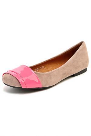 Туфли SPARKLING. Цвет: серый, розовый