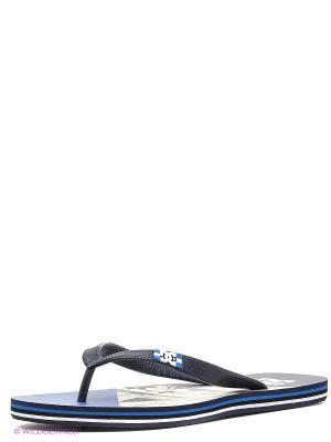 Шлепанцы DC Shoes. Цвет: синий, серый, белый