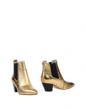 Полусапоги и высокие ботинки MARC JACOBS. Цвет: золотистый
