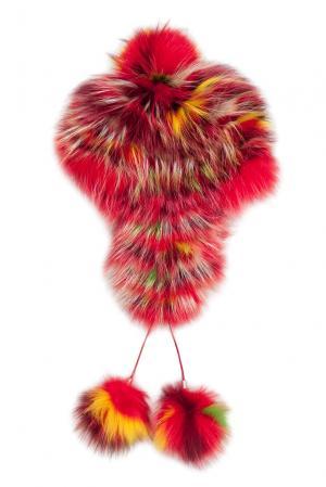 Головной убор из меха лисы и енота 139005 Igor Gulyaev. Цвет: разноцветный