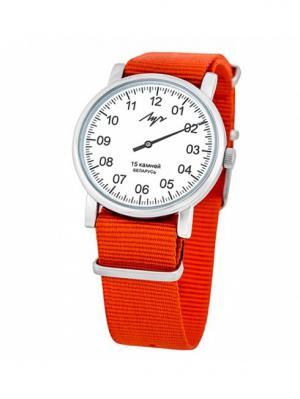 Часы наручные ЛУЧ.. Цвет: белый