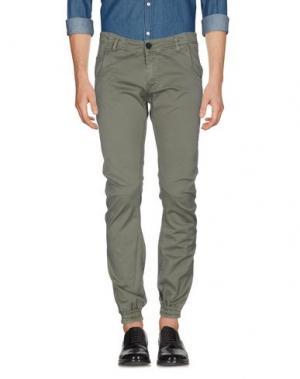 Повседневные брюки SHOESHINE. Цвет: зеленый-милитари