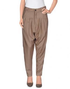 Повседневные брюки MNML COUTURE. Цвет: хаки