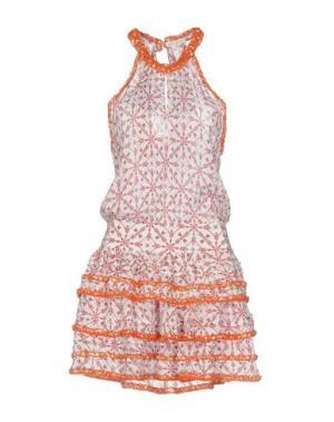 Короткое платье POUPETTE ST BARTH. Цвет: оранжевый