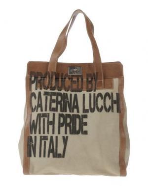Сумка на плечо CATERINA LUCCHI. Цвет: хаки