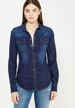 Рубашка джинсовая Liu Jo Jeans. Цвет: синий