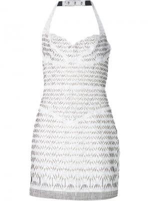 Сетчатое платье Iris Van Herpen. Цвет: белый