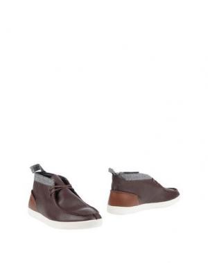 Полусапоги и высокие ботинки BOXFRESH. Цвет: темно-коричневый