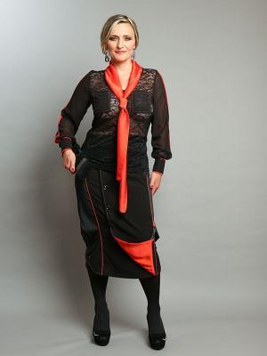 Блузка Giani F. Цвет: черный, оранжевый