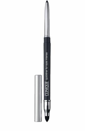 Автоматический карандаш для глаз с растушевкой, оттенок Intense Carcoal Clinique. Цвет: бесцветный