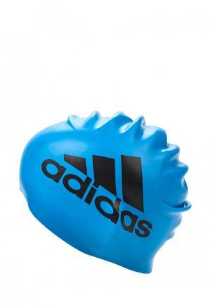 Шапочка для плавания adidas Performance. Цвет: синий