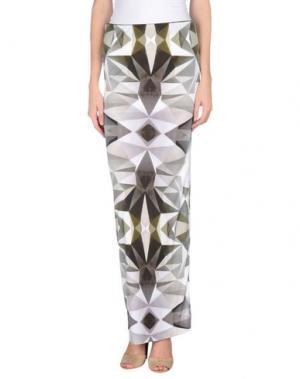Длинная юбка DAGMAR. Цвет: светло-серый