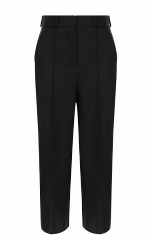 Укороченные шерстяные брюки со стрелками Racil. Цвет: черный
