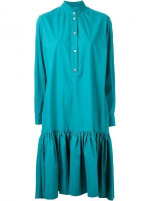 Платье-рубашка с заниженной талией Antonio Marras. Цвет: зелёный