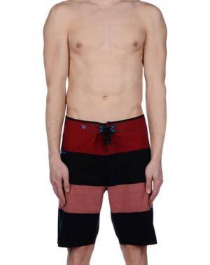 Пляжные брюки и шорты RIPCURL. Цвет: красно-коричневый