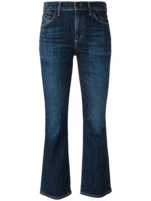 Расклешенные укороченные джинсы Citizens Of Humanity. Цвет: синий