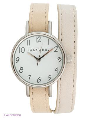 Часы TOKYObay. Цвет: светло-бежевый