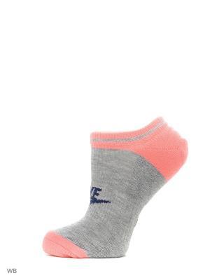 Носки NSW WOMENS -3PPK NO Nike. Цвет: персиковый, белый, темно-синий