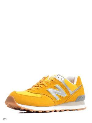 Кроссовки New Balance 574. Цвет: желтый