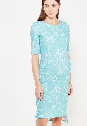 Платье MilkyMama. Цвет: бирюзовый