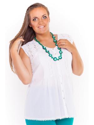 Блузки Lady Sharm Classic. Цвет: белый