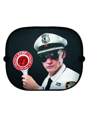 Козырек от солнца на боковые стекла Stop! Police! Donkey. Цвет: черный, белый