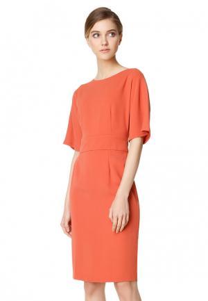 Платье pompa. Цвет: оранжевый