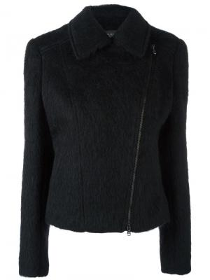 Приталенная куртка на молнии Federica Tosi. Цвет: чёрный