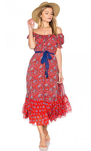 Платье alexa Carolina K. Цвет: красный