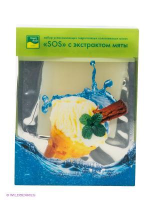 Маска для лица успокаивающая Beauty Style SOS с экстрактом мяты. Цвет: зеленый, синий