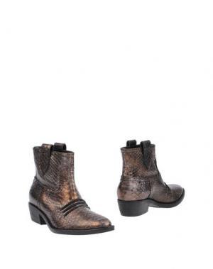 Полусапоги и высокие ботинки JEANNOT. Цвет: бронзовый