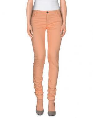 Джинсовые брюки MAISON ESPIN. Цвет: абрикосовый