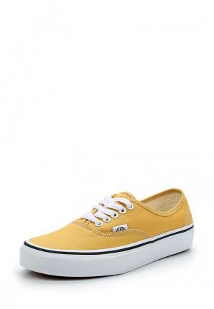 Кеды Vans. Цвет: желтый