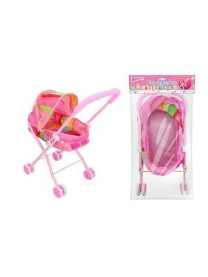 Коляска для куклы люлька 1Toy. Цвет: розовый