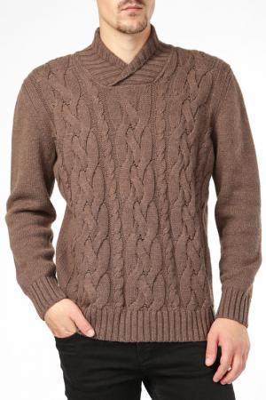 Джемпер BCM. Цвет: коричневый